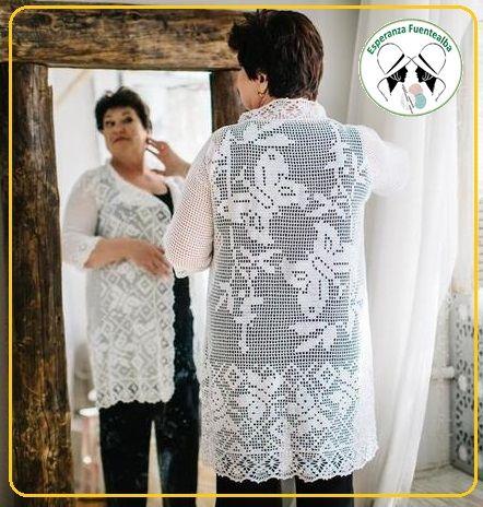 Chalecos tejidos a crochet Les comparto estos patrones del modelo Sophie de chalecos tejidos a crochet.Que lo disfruten mucho, es hermoso¡¡¡
