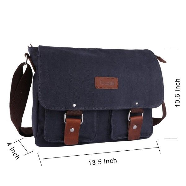 Canvas Messenger Bag 13 Inch Laptop Shoulder Bag for Men and Women ... f75f0fd0a959d