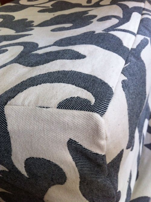 sewing an ottoman slipcover