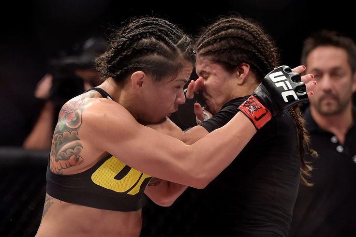 Cláudia Gadelha superou Jessica Aguilar por pontos, durante UFC 190 do Rio de Janeiro