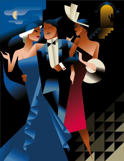 Club posters in Art Deco Posters by Mads Berg