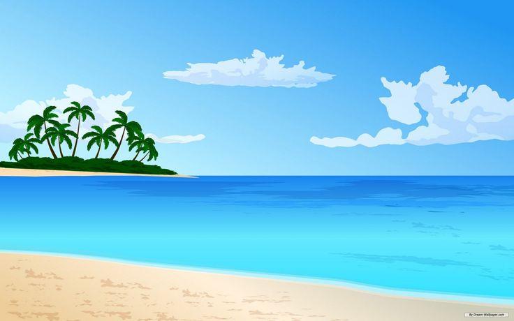 cartoon beach scene clip - photo #25