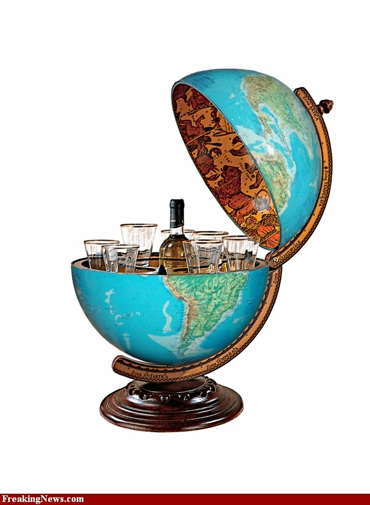 Globe Bar   Multi Purpose For One Of Those Classic Globes, Not Sure How Well
