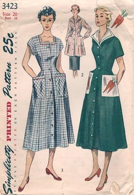 Vintage style house dresses