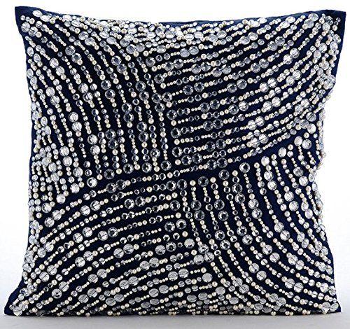 Luxury Navy Blue Cushions Cover, Modern Cushion Covers, 3... https://www.amazon.co.uk/dp/B016464ILU/ref=cm_sw_r_pi_dp_x_VfZGybJPB6GCA
