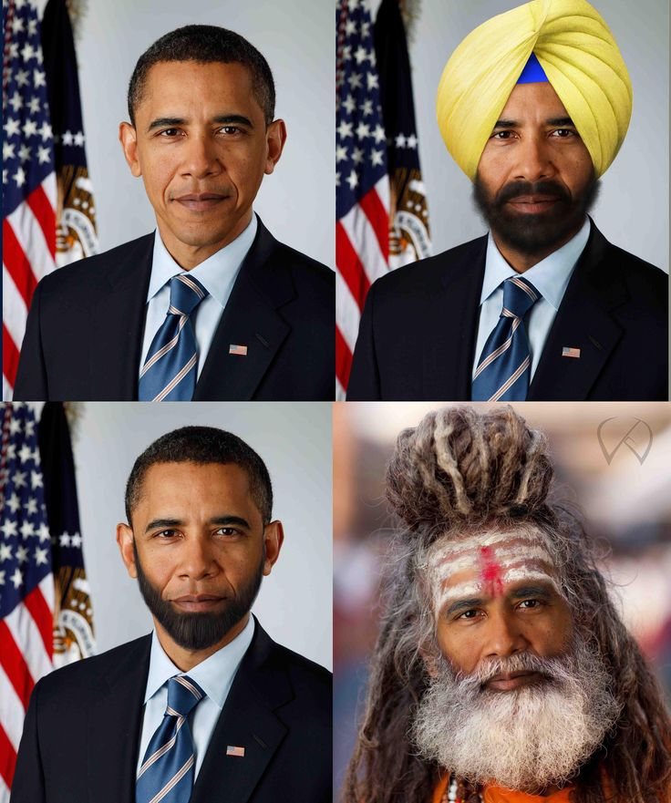 barack obama  in three different character