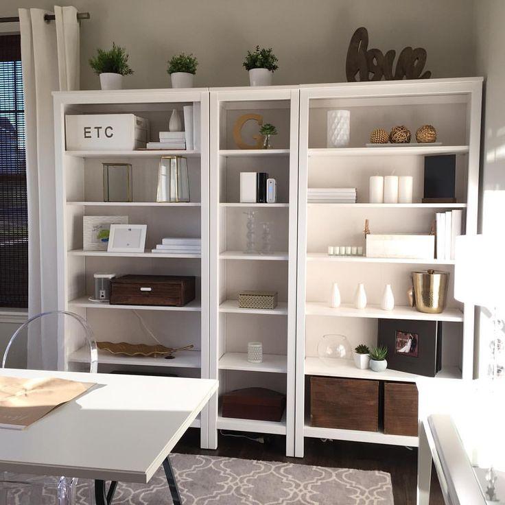 Ikea Hemnes Bookshelf Natural Wood White And Gold