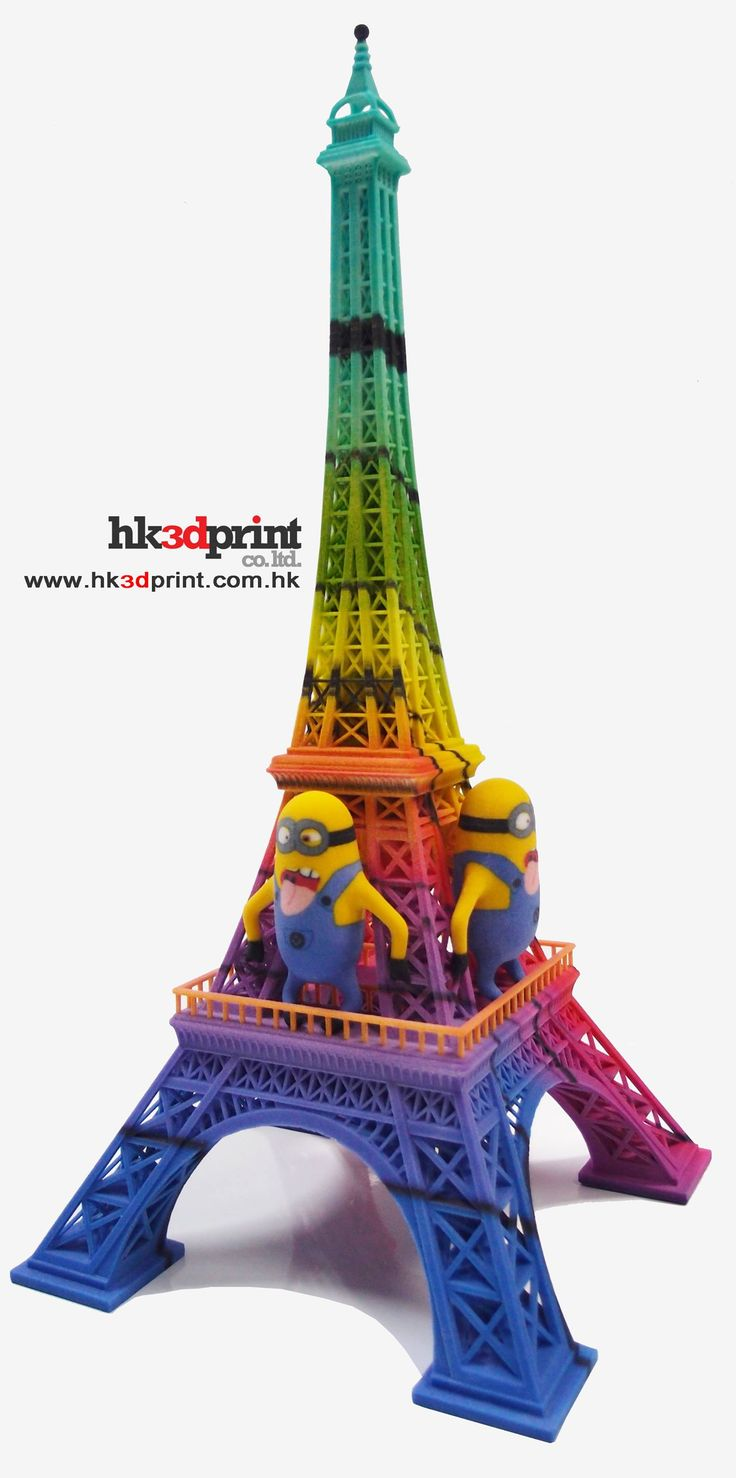 Xavier color printing - 3d Printed Architecture Eiffel Tower Uniquely Full Colour 3d Printing 3dprintedarchitecture