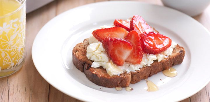 Fresh and simple Ricotta Berry Toast.