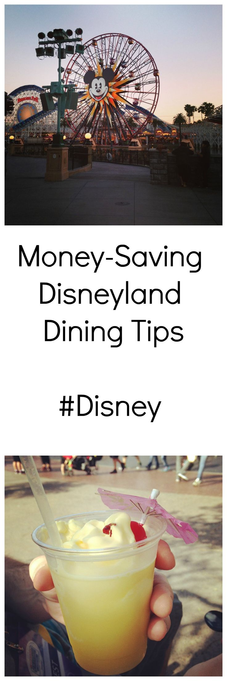 """You CAN eat on a budget at Disneyland! Tried and true tips from a no-frills traveler. Favorite """"cheap"""" park restaurants and more money-saving tips! #Disneyland #Disney #DisneyMom #travel"""