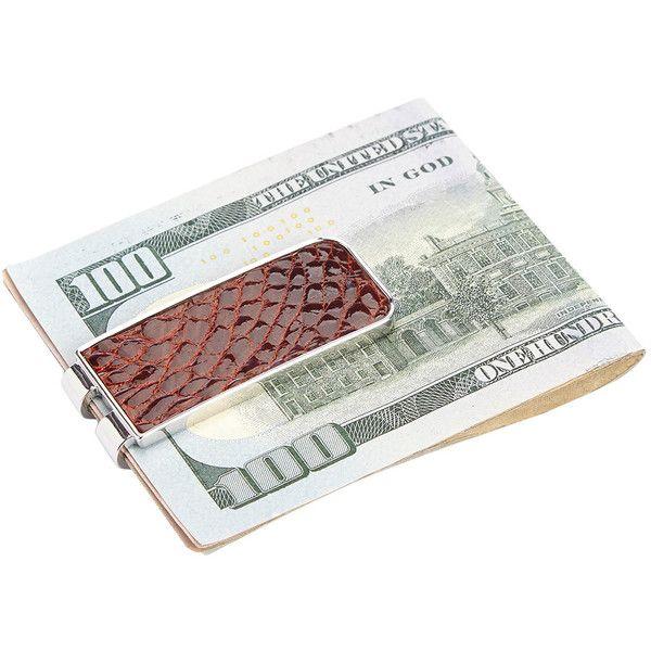 Royce Leather Men's Genuine Alligator Money Clip - Cognac ($45) ❤ liked on Polyvore featuring men's fashion, men's accessories, men's money clips, cognac and mens money clip
