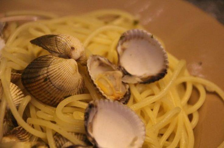 Spaghettis aux coques ou Spaghetti alle vongole
