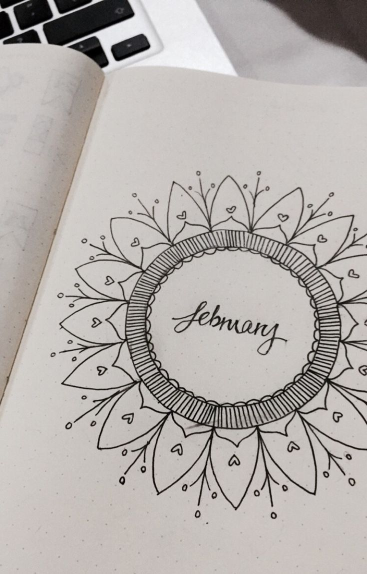 Bullet Journal monthly front page #bulletjournal #monthly #plannerlove #monthlyfrontpage