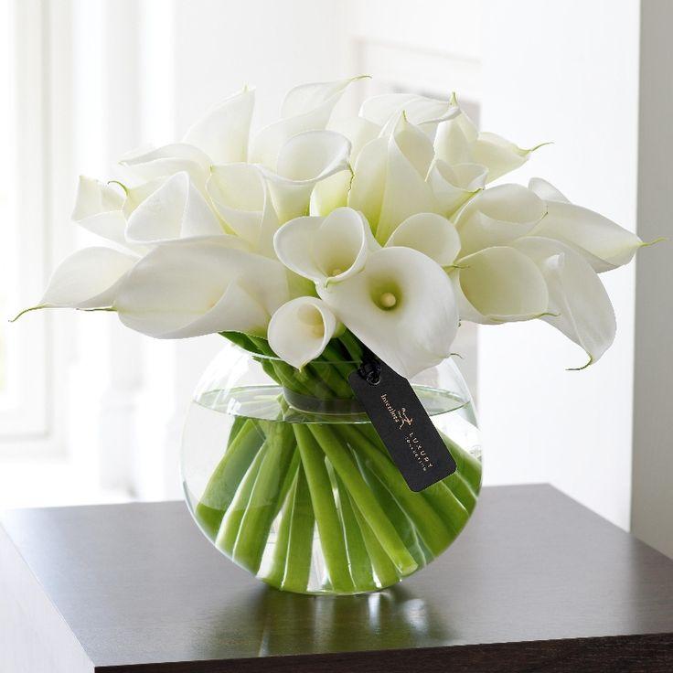 Romantic White Roses Flower Arrangements | Luxury White Orchid and Rose Arrangement. | The Flower Shop ...