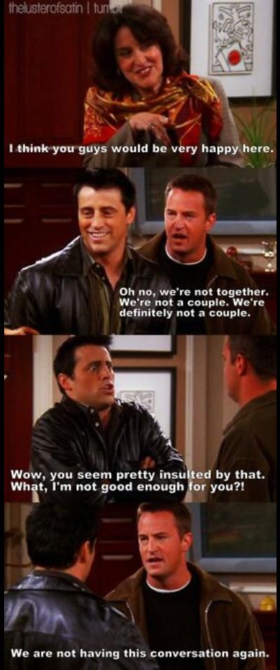 Friends Funny Quotes Tv Show: Joey And Chandler Quotes. QuotesGram