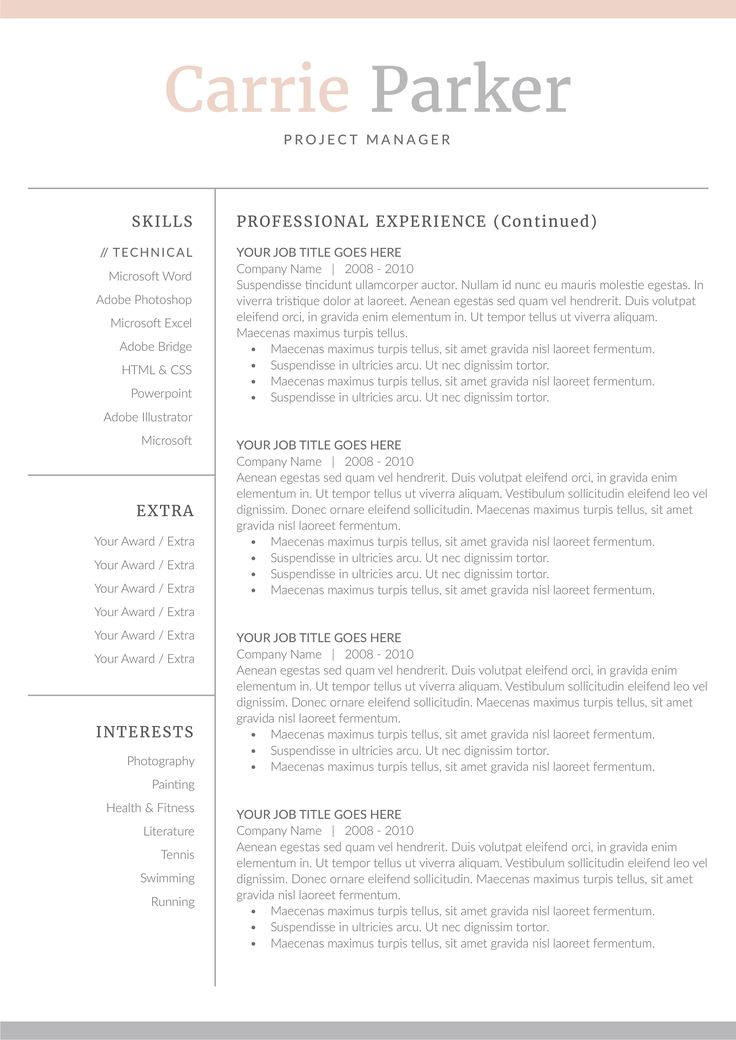 Word Resume & Cover Letter Template by DemeDev on @creativemarket #AD