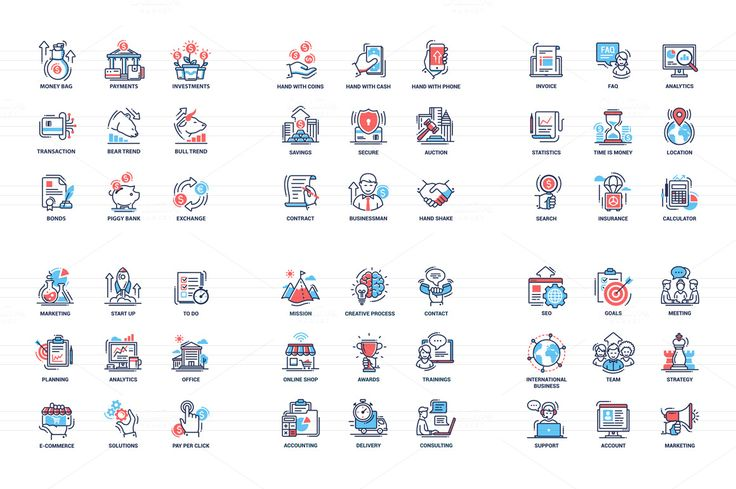 Business & Education Icons Super Set by Decorwith.me Shop on @creativemarket