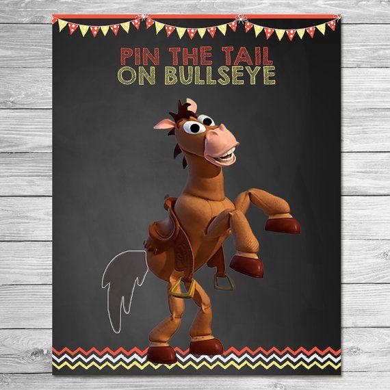 Toy Story Pin the Tail on Bullseye Chalkboard / by ItsACowsOpinion