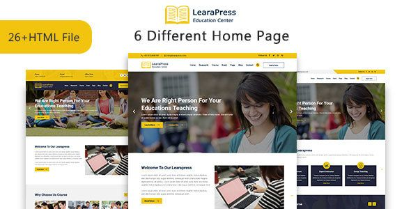LearaPress - Education & Courses HTML5 Template   Best Premium HTML
