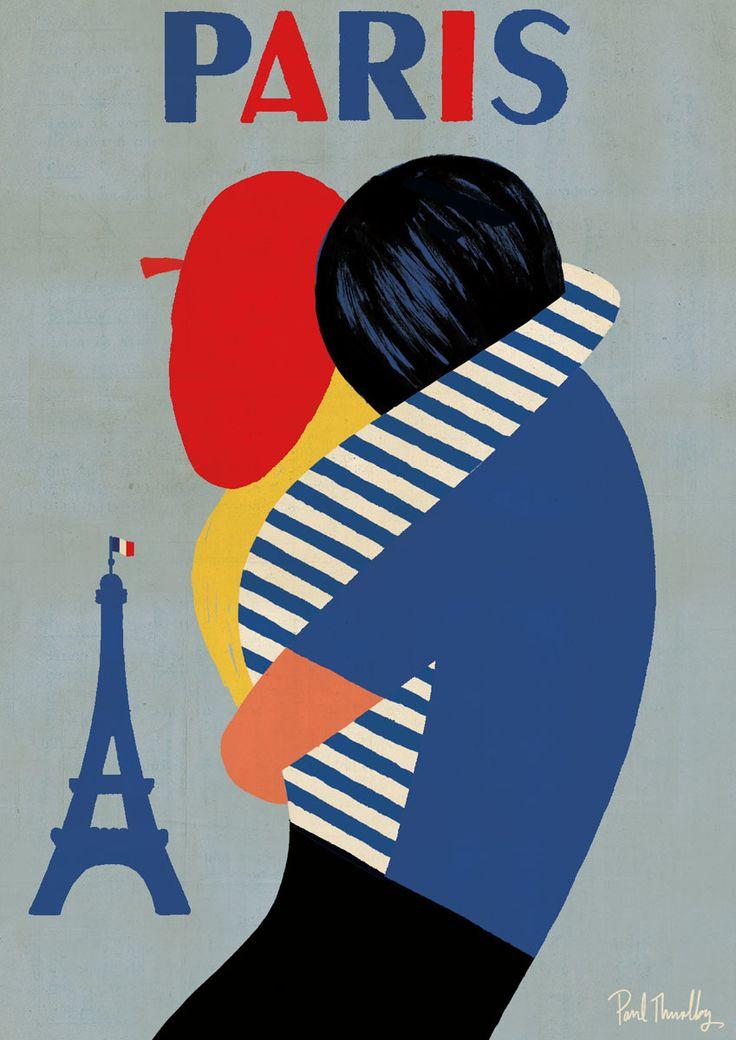 Paris poster (new version) - ©2015 Paul Thurlby