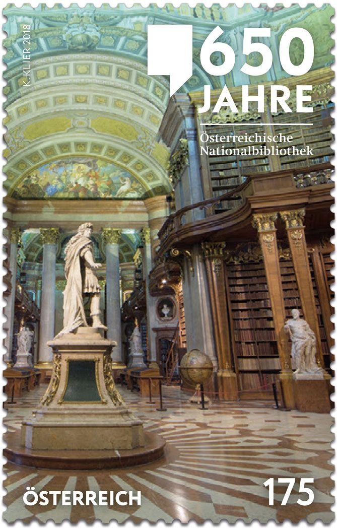 650 Jahre Nationalbibliothek In Wien österreichische Post 2018