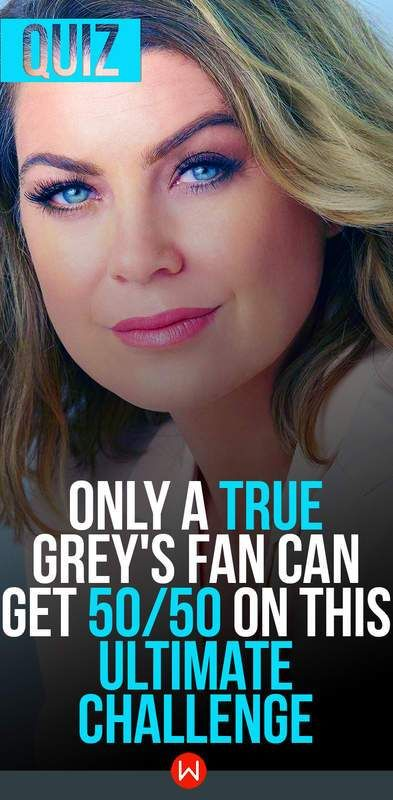 Grey's Anatomy Challenge for real Grey's Fans, with Meredith Grey, Callie Torres, Cristina Yang, Derek Shepherd.
