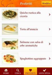 Preferiti  Raccogli qui le ricette che ti sono piaciute e le avrai sempre rapidamente a portata di mano.