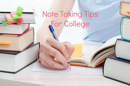 Study note tips for college students