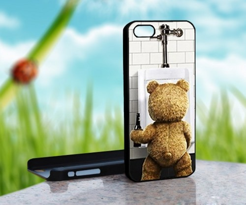 New Ted The Movie Funny Bear - Print on Hard Cover For iPhone 5