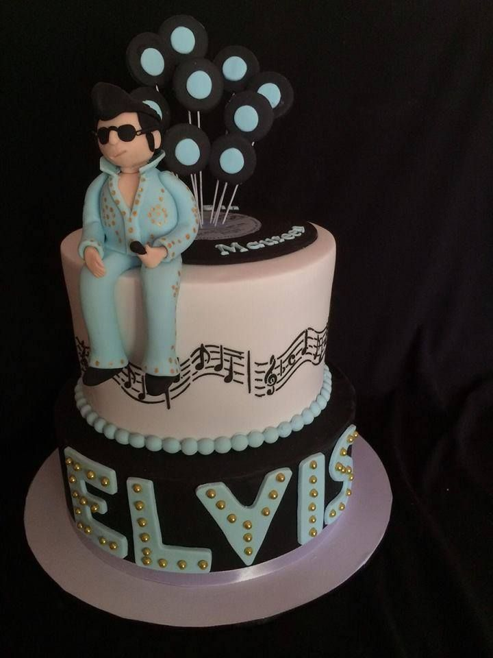 193 Best Elvis Cakes Images On Pinterest Elvis Cakes Cakes And