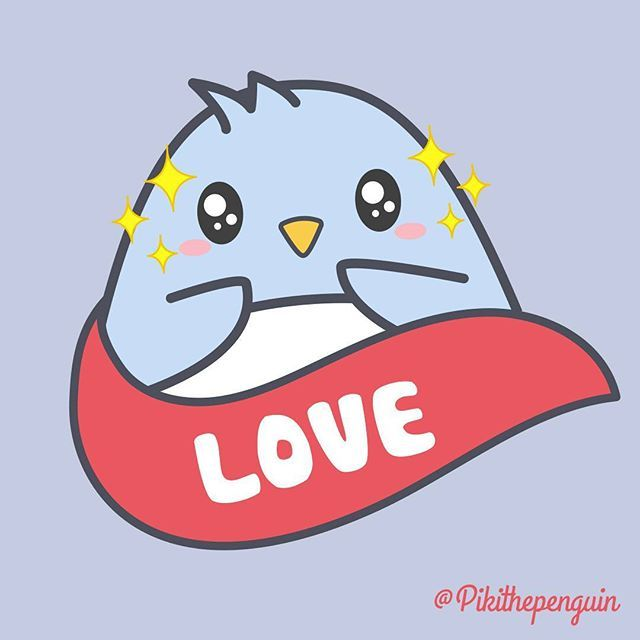 February, the month of love.  #Piki #pikithepenguin #penguins #penguinslover #kawaii #vector #illustration #character #kawai #cute #love #monthoflove #picoftheday #instagood #pusheen #molang