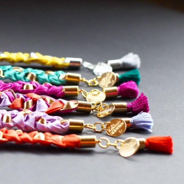 bracelet, tresse, braid, pompon, colorfull, colobloc, neon, pastel