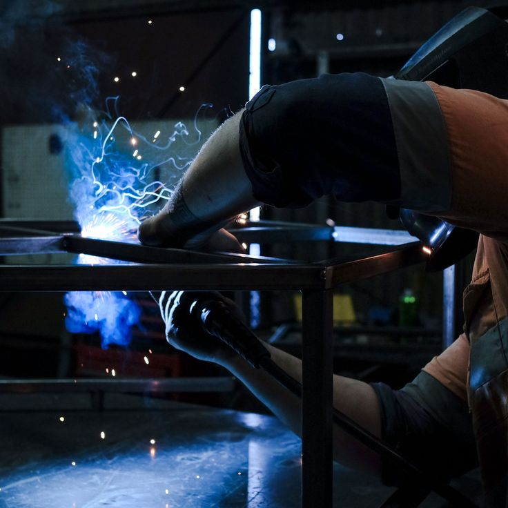 Look at those sparks fly! More custom welding jobs