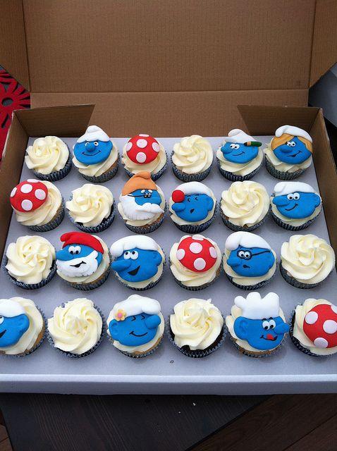 Smurf cupcakes!