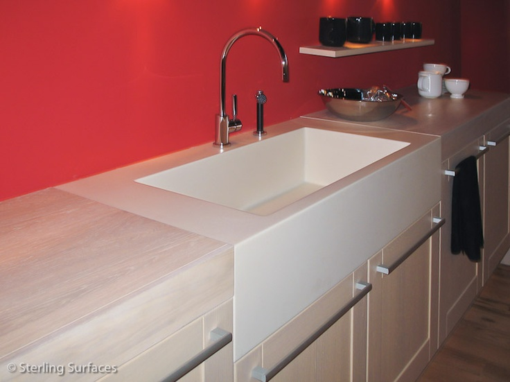 Lovely Farmers Sink · Farmers SinkSolid SurfaceKitchen ...