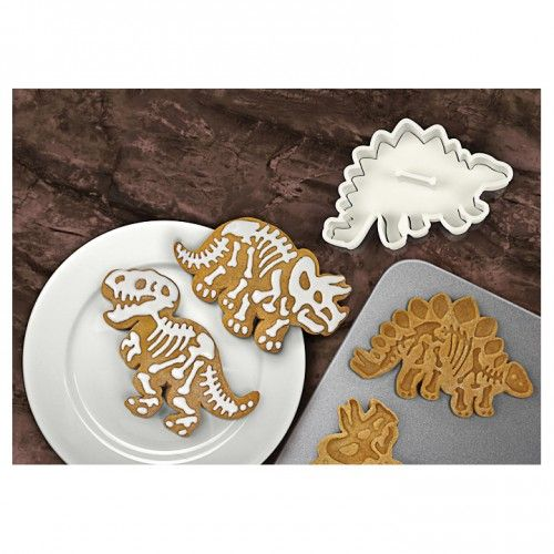 Dig-ins Dinosaur Fossil Cookie Cutters on Yellow Octopus #dig-ins #dinosaur #fossil #cookie #cutters  #halloween