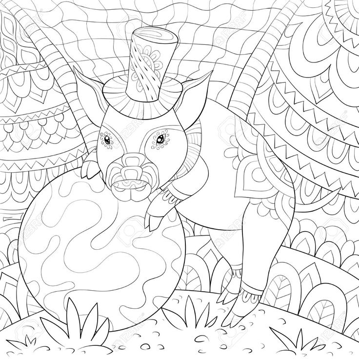 32++ Cute pig coloring pages for adults ideas in 2021