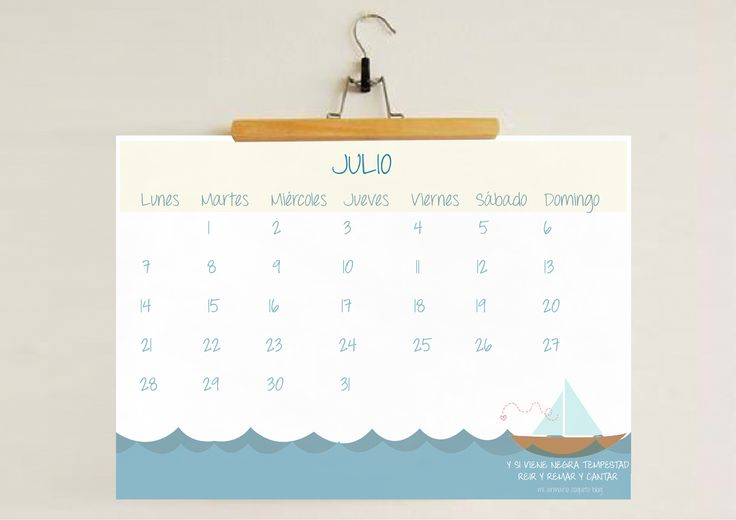 CALENDARIO IMPRIMIBLE JULIO 2014