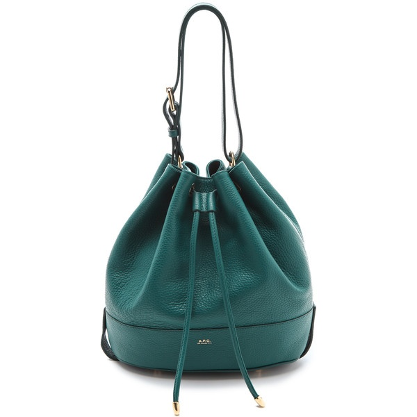A.P.C. Bucket Bag ($635) ❤ liked on Polyvore