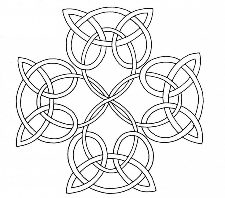 celtic knot coloring page celtic cross - Celtic Coloring Book