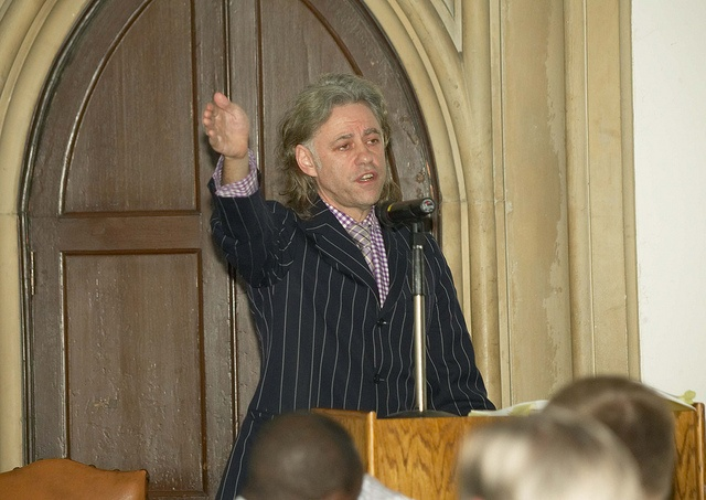 The Commission for Africa - we invited Sir Bob Geldof to speak in 2005.
