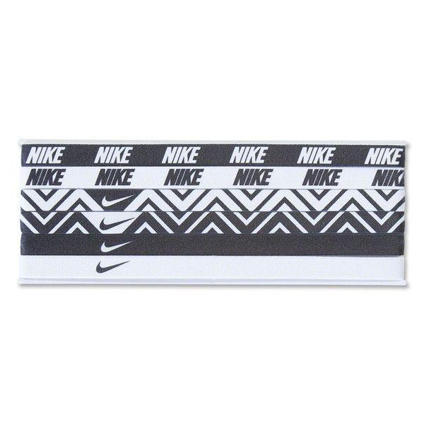 Nike 6-Pack Headbands (Black/White)