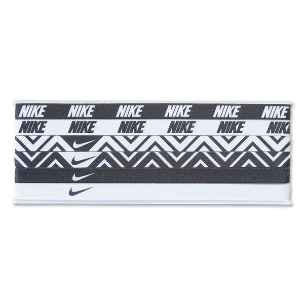 Nike 6-Pack Headbands (Black/White)