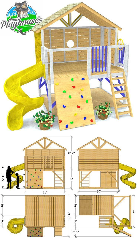 Ein offenes Spielset-Design. Enthält Anweisungen zum Bau einer Felsmauer und …   – playhouse interior