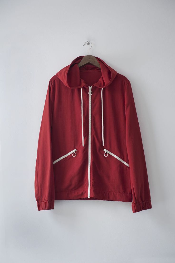 Marques Red Windbreaker
