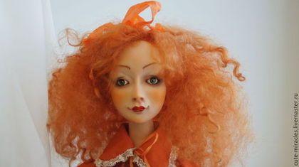 Коллекционные куклы ручной работы. Ярмарка Мастеров - ручная работа. Купить Рыжеволосая Мэри. Handmade. Оранжевый, авторская кукла, кружева