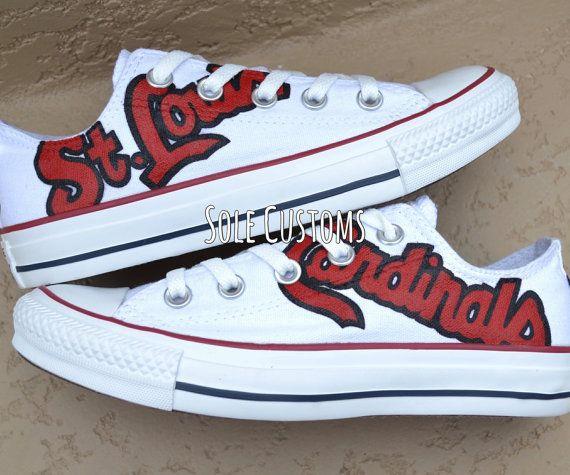 83d0ac4fac7f99 Custom Converse - Men s Women s St. Louis Cardinals Shoes