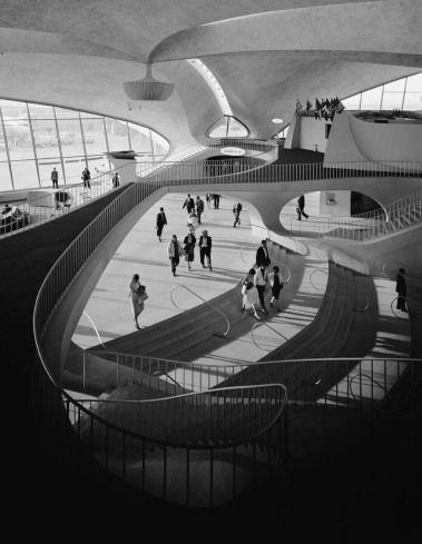 Ezra Stoller  TWA Terminal at John F. Kennedy Airport (then Idlewild Airport) by Eero Saarinen, 1962.