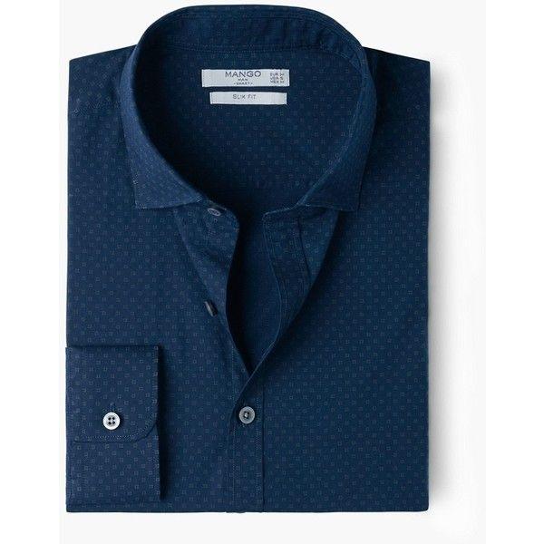 Camicia slim-fit stampa stile cravatta - Camicie da Uomo | MANGO (€40) via Polyvore