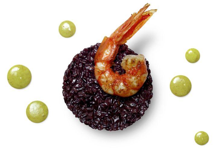 gliAironi | Costardi Bros / Riso Venere con gamberi rossi e salsa al curry